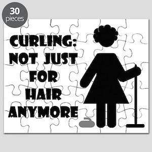 CurlingForHairWhiteTee Puzzle