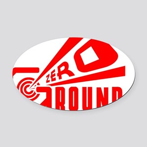 Ground Zero Oval Car Magnet