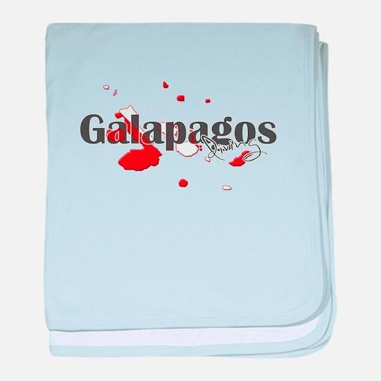 Galapagos Diver baby blanket