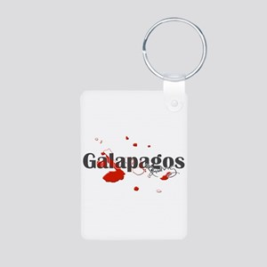 Galapagos Diver Aluminum Photo Keychain
