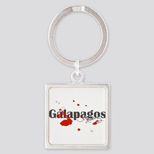 Galapagos Diver Square Keychain
