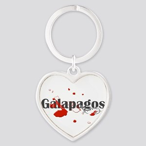 Galapagos Diver Heart Keychain