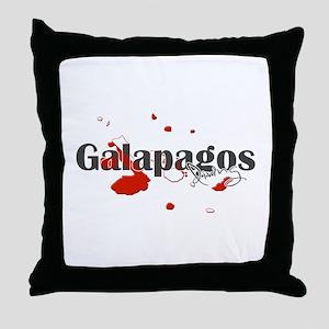 Galapagos Diver Throw Pillow
