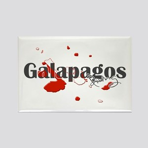 Galapagos Diver Rectangle Magnet
