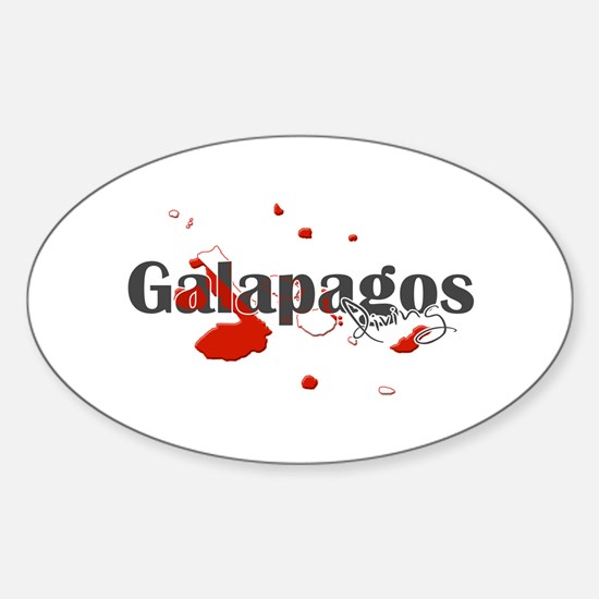 Galapagos Diver Sticker (Oval)