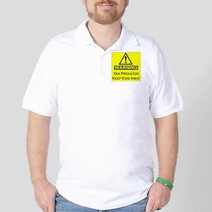 Warning Predator Golf Shirt