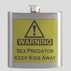 Warning Predator Flask