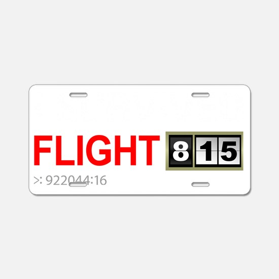 I-survived-flight-815-(blac Aluminum License Plate