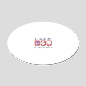 FIN-st-bernards-CROP 20x12 Oval Wall Decal
