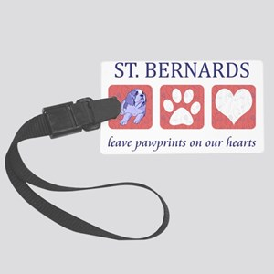 FIN-st-bernards-CROP Large Luggage Tag
