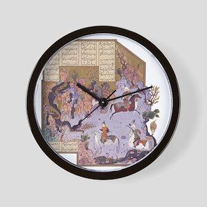 Persian Miniature 01 Wall Clock
