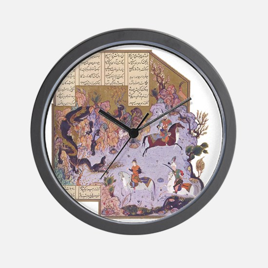Persian Miniature 01 Wall Clock