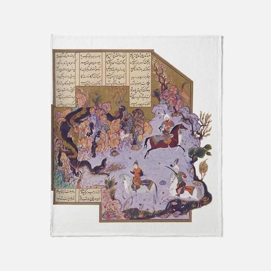 Persian Miniature 01 Throw Blanket