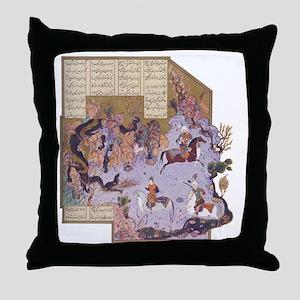 Persian Miniature 01 Throw Pillow
