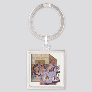 Persian Miniature 01 Square Keychain