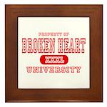 Broken Heart University Framed Tile