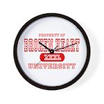 Broken Heart University Wall Clock