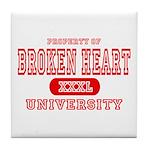 Broken Heart University Tile Coaster