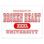 Broken Heart University Small Poster
