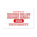 Broken Heart University Mini Poster Print