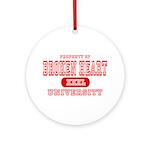 Broken Heart University Ornament (Round)