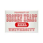 Broken Heart University Rectangle Magnet