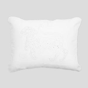 tshirt-calligraphy01-wit Rectangular Canvas Pillow