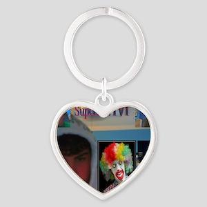 2-superjewtv1 logo Heart Keychain