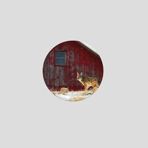 coyote barn Mini Button
