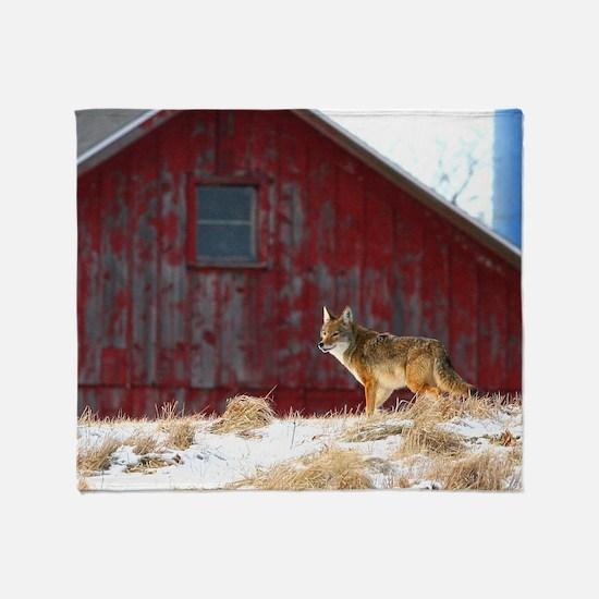 coyote barn Throw Blanket