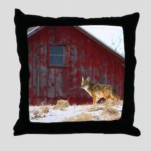 coyote barn Throw Pillow
