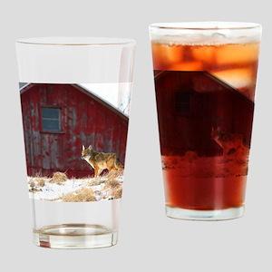 coyote barn Drinking Glass