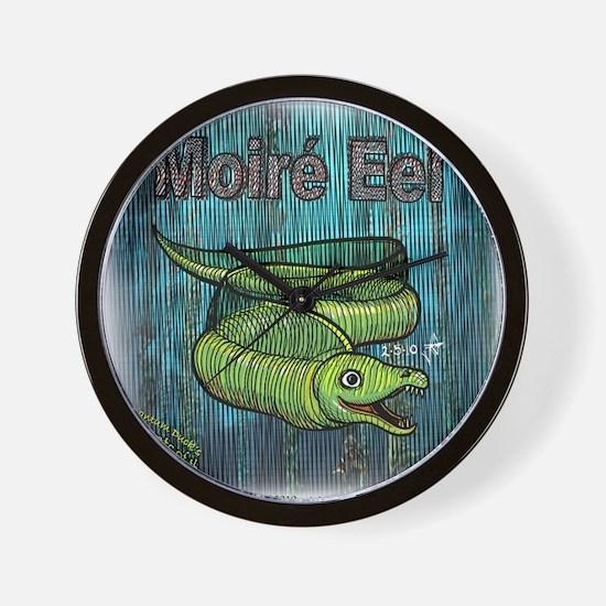 moire-eel Wall Clock