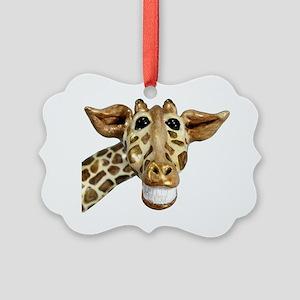 giraffe Picture Ornament
