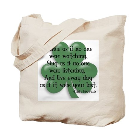 Irish Proverb Tote Bag