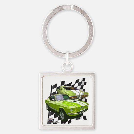 2-67gt500greenKR Square Keychain