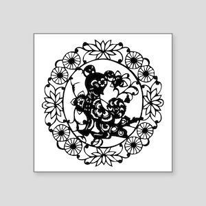 "DogB1 Square Sticker 3"" x 3"""