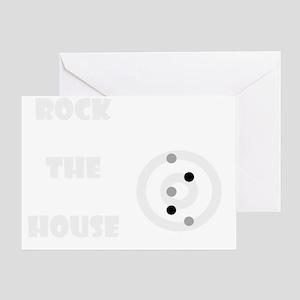 RockTheHouseDark Greeting Card