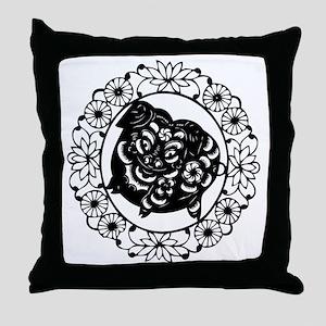 PigB1 Throw Pillow