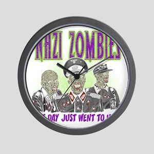 nazi zombies 1 Wall Clock