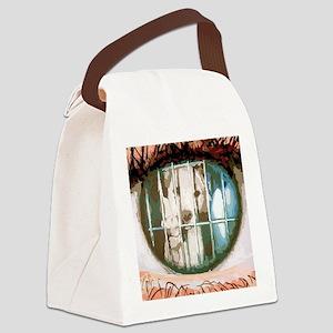 puppys eyes Canvas Lunch Bag