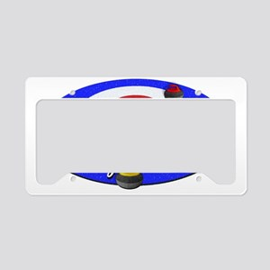 Curling Rocks WC License Plate Holder