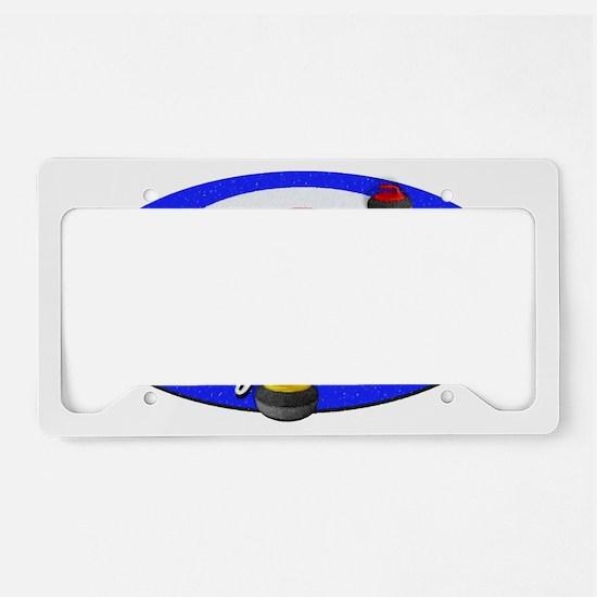 Curling Rocks WC License Plate Holder