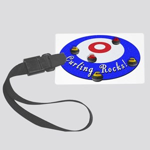 Curling Rocks WC Large Luggage Tag