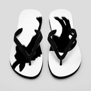 donkey waiting for love Flip Flops