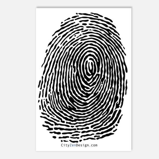 fingerprint_BW Postcards (Package of 8)