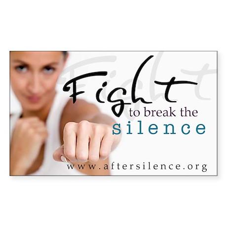 Fight Rectangle Sticker