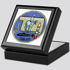 wrogers patch transparent Keepsake Box