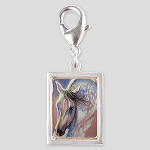 colorhorsepink Silver Portrait Charm