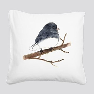 dark eyed junco Square Canvas Pillow